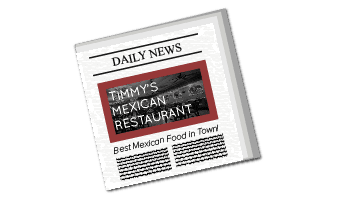 Newspaper advert for Timmys Restaurant