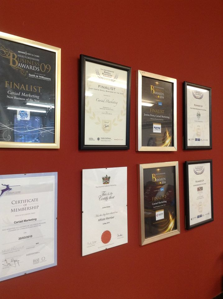 Awards wall