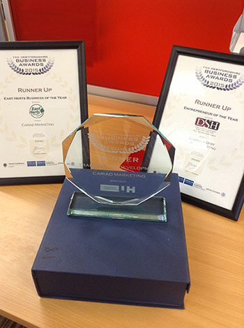 Cariad wins big at the FSB Herts Award 2015