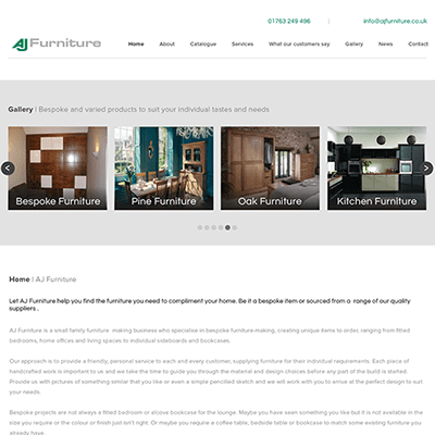Cariad Marketing Launches AJ Furniture website