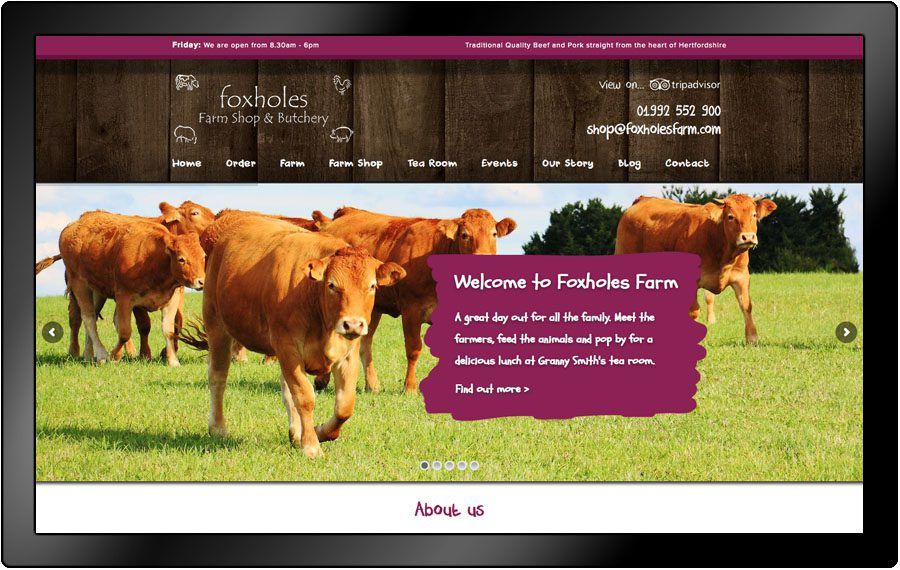 Foxholes Farm website