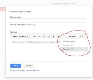 AdWords Custom formula