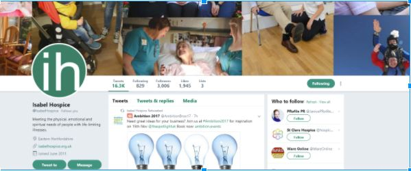 Isabel Hospice Twitter