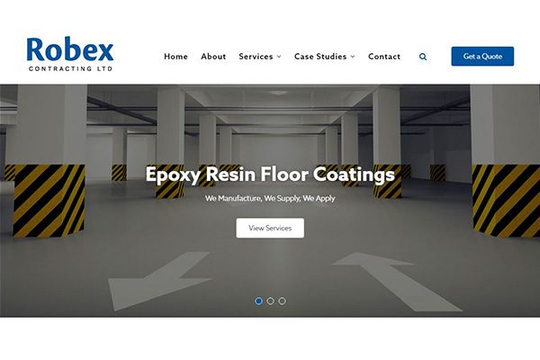 Robex Contracting, new website