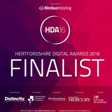 Hertfordshire Digital Awards 2016 – Finalist