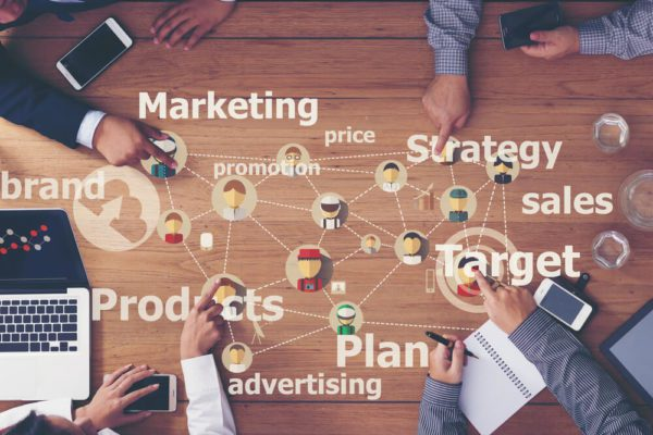 marketing small business strategy concept