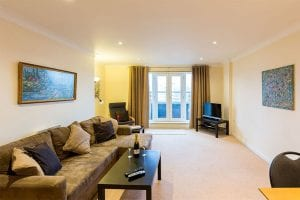Service apartment front room in Hemel