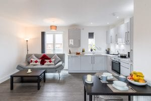 oval flat Christmas serviced apartments
