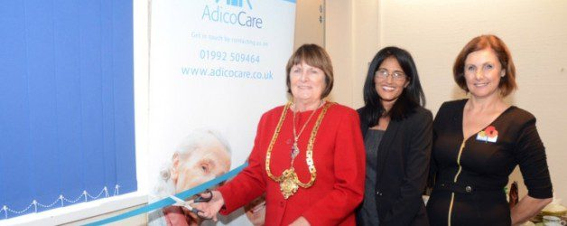 Adico Care with the Mayor of Hertford