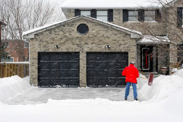 Garage in winter