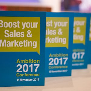 Boost your sales and marketing at Ambition 2017