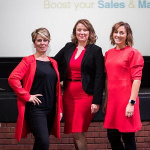 Penny Haslam, Katie Bulmer-Cooke and Julie Holmes at Ambition 2017
