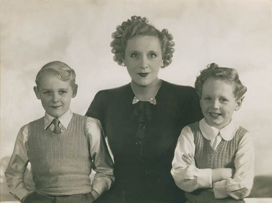 Barbara Carltand with sons Ian and Glen