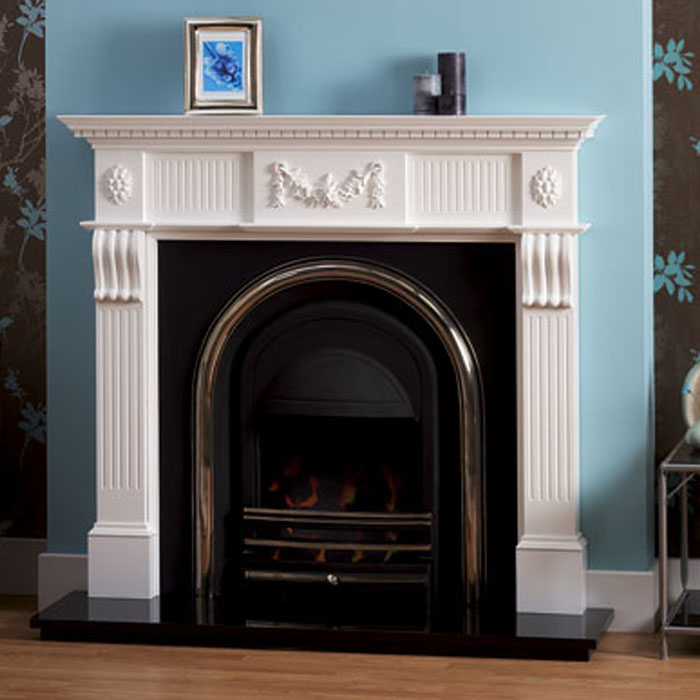 worcester white finish fireplace