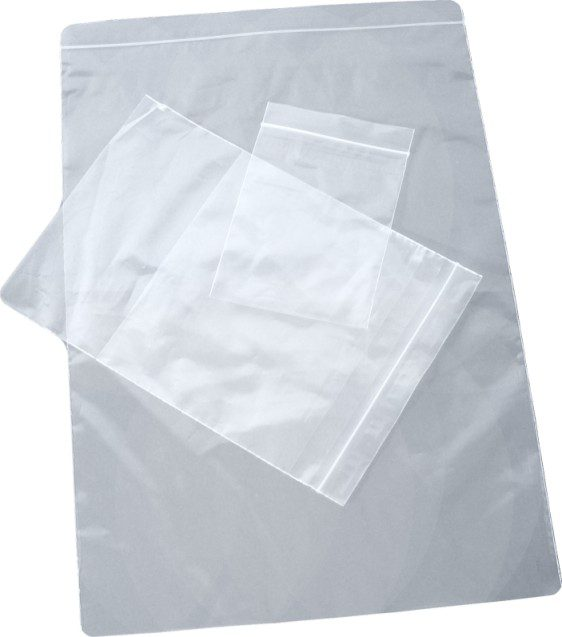 Heavy duty resealable plastic bags