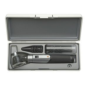 Mini 3000 Ophthalmoscope, Mini 3000 Otoscope Diagnostic Set with 2 x Mini3000 Battery Handles (4 x reusable tips, 5 x 2.5mm AllSpec disposable tips, 5 x 4mm AllSpec disposable tips and a hard case)