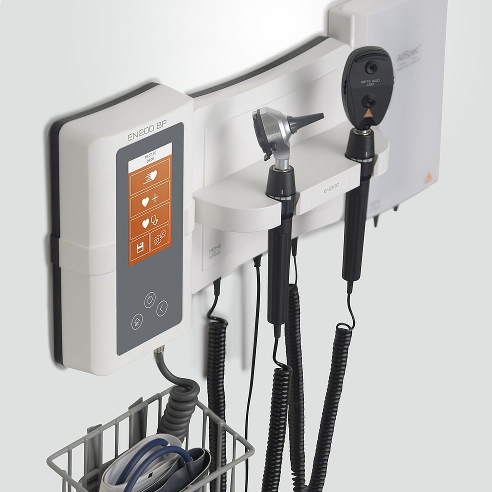 HEINE EN200 Wall Diagnostic Set with EN200BP Digital Blood Pressure