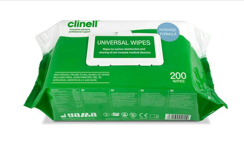 CW200 - Universal Wipes for surface disinfection and cleaning of non-invasive medical devices