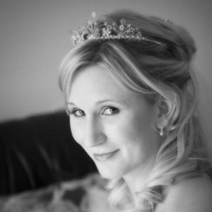bridal hair with tiara