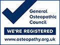 General Osteopathic Council Registered logo