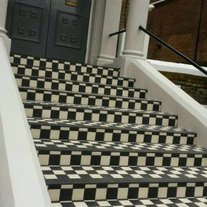 patterned stair way