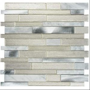Mosaic Silver  Glass Tile