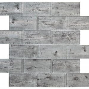 HT Mosaics 2 30237 Grey  Glass Tile