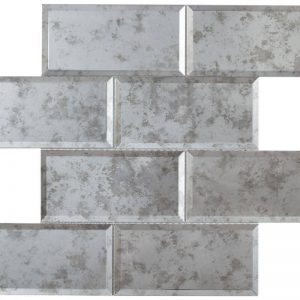 HT Mosaics 2 30239 Grey  Glass Tile