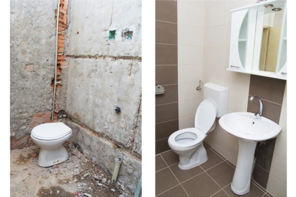 Before & After - Bathroom Tiles