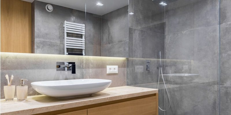 Light grey bathroom design
