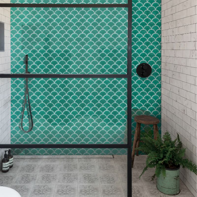 Scallop Emerald Tiles