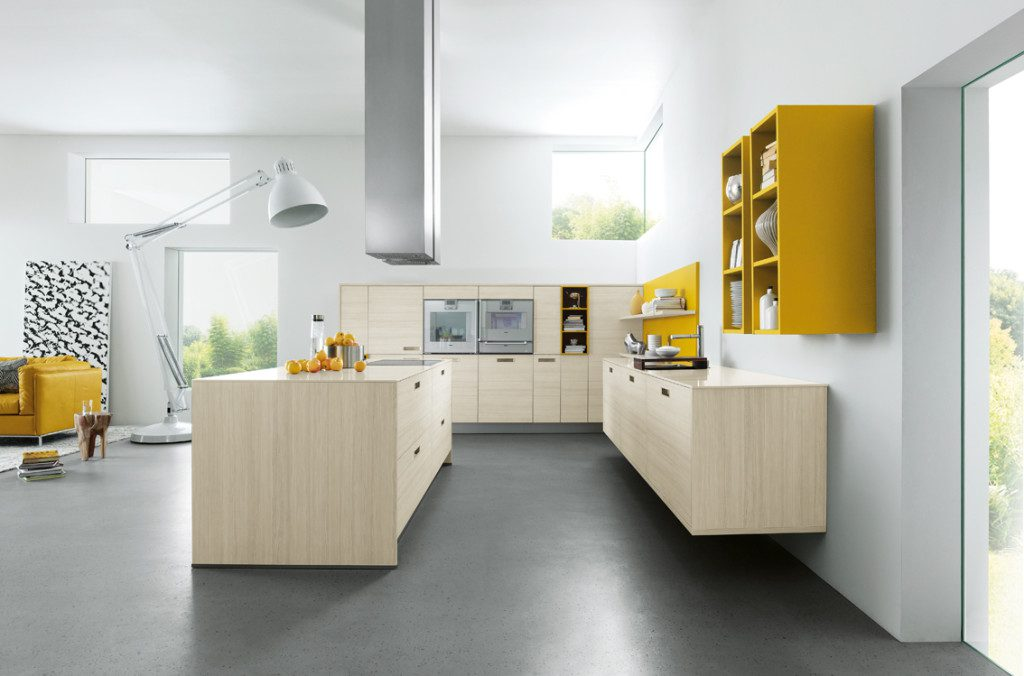 Bold Coloured Kitchen