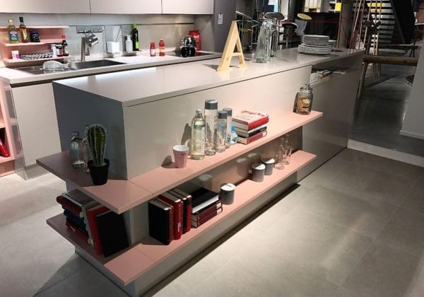 C Range Crystal Grey Laminate Gloss Kitchen