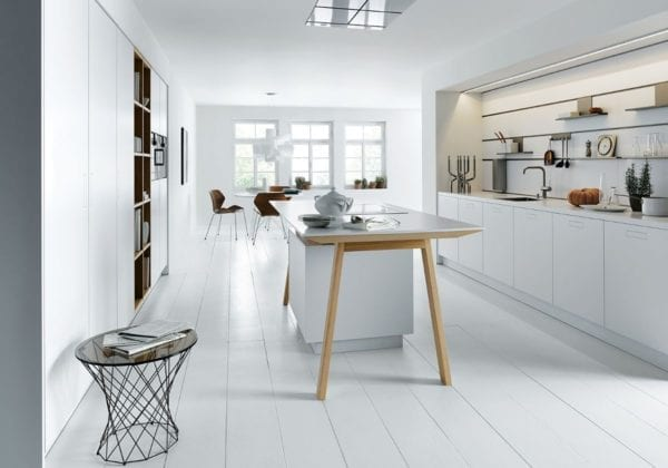 Next 125 Solid Polar White Matt Kitchen