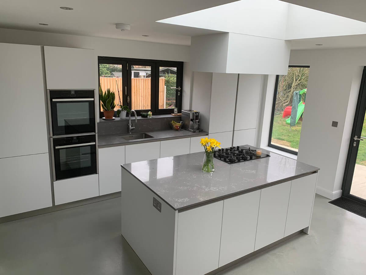 Amazing Kitchen Design with KDCUK, gloss counter top kitchen counter
