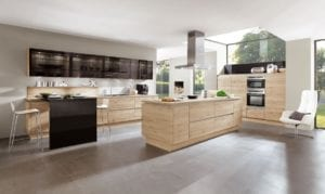 modern traditional kitchens Affordable German Kitchens: Budget Kitchen & Budget Friendly Kitchen Appliances. Cost Effective Open Shelving Kitchen Cabinets.