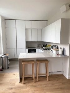 Small Kitchen Ideas: Affordable Style Kitchen Ideas. New Kitchen Design on a Budget. Kitchen Island as a Space Saver.
