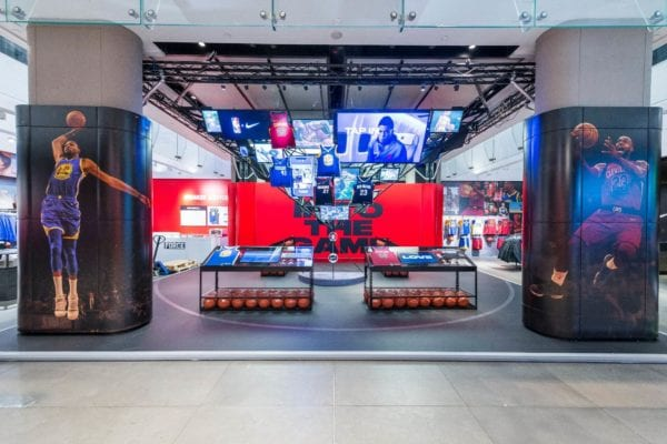nike nba store design london