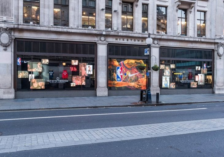 nike nba retail window design