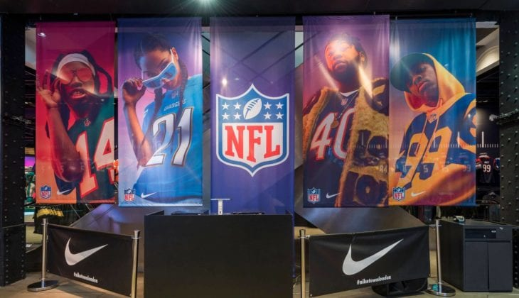 nike nfl store display