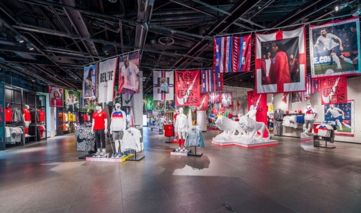 nike world cup shop display banners