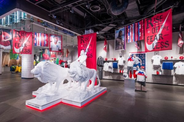 nike shop floor display