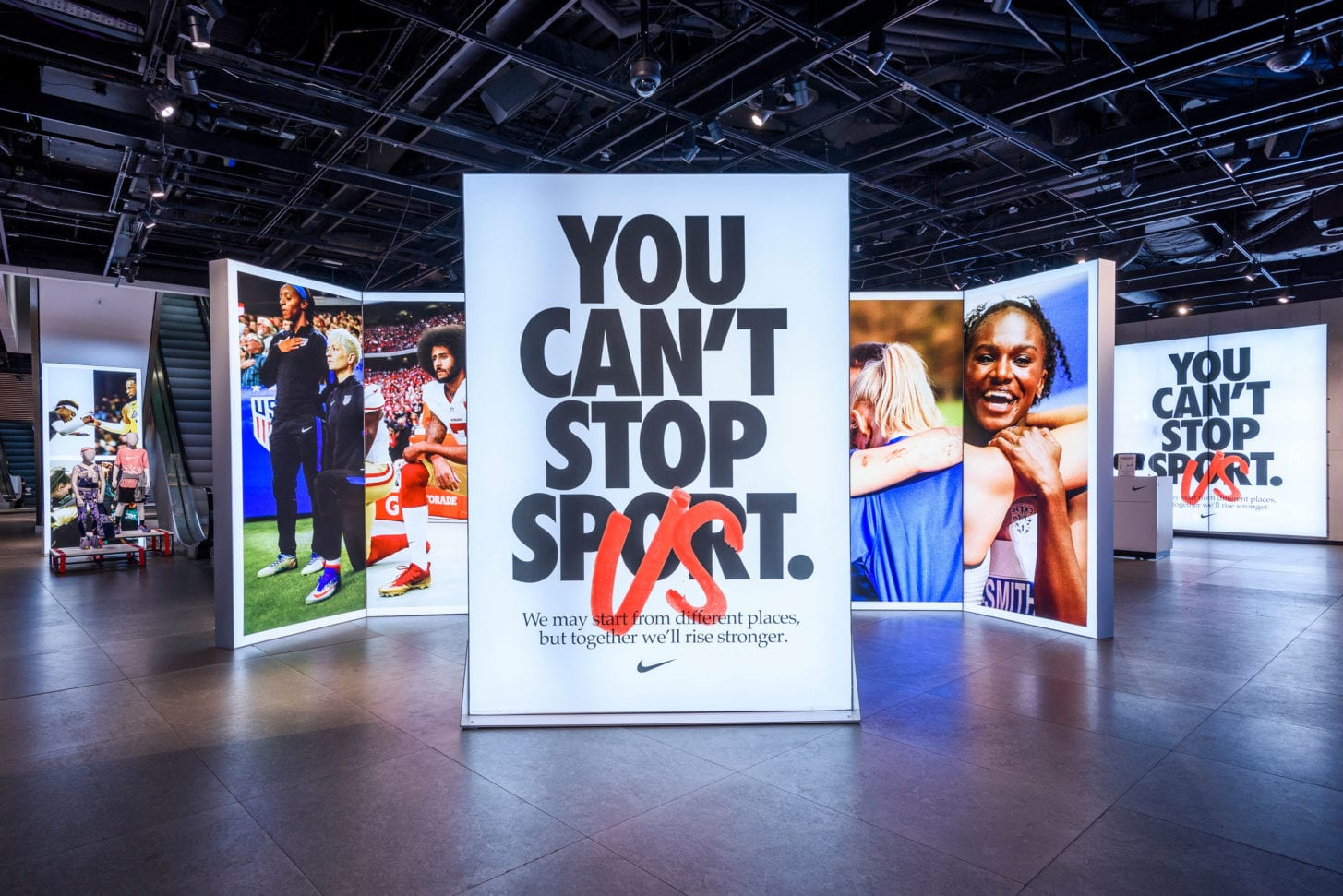 Nike - You Can't Stop Sport Light Boxes London