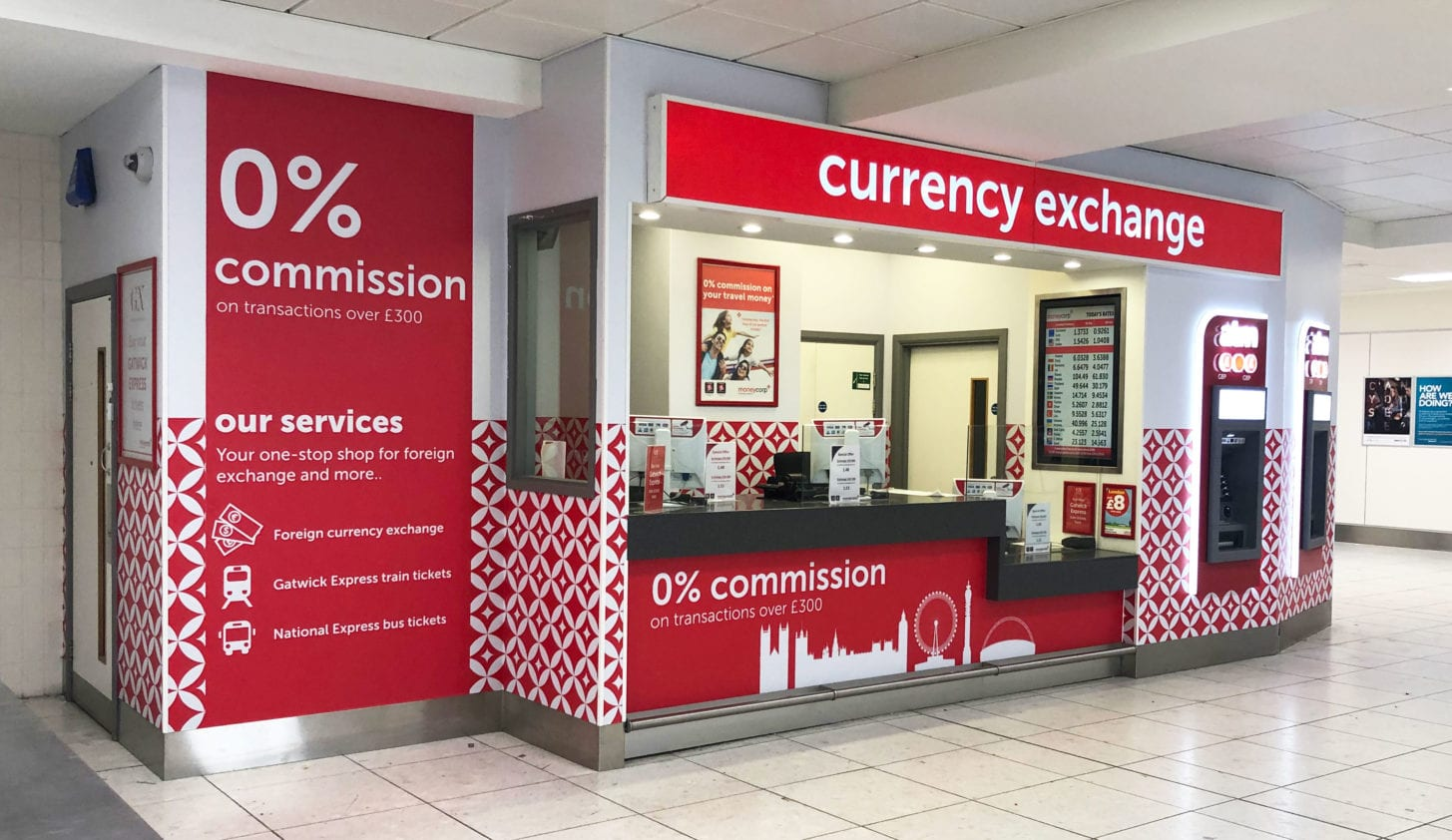 moneycorp airport retail popup
