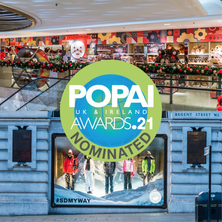 We've been nominated for 2 POPAI Awards!