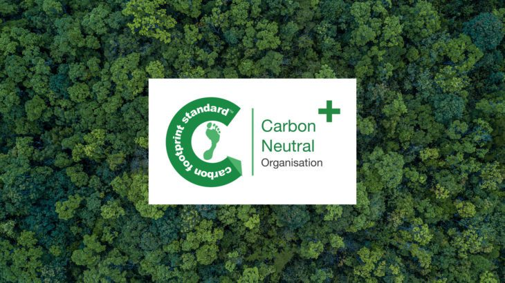 We are a carbon neutral company