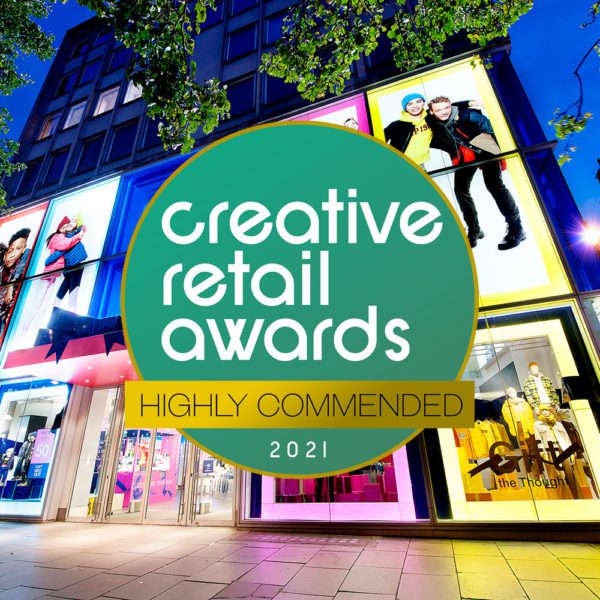 Highly Commended at the Creative Retail Awards 2021