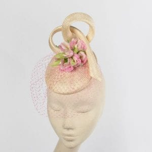 Parisisal Straw Pillbox Headpiece