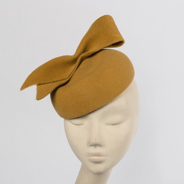 Velour Felt Percher Hat
