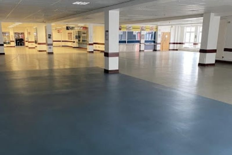 MMA Colour Blend - Resin Floor Screed for Eastbury School Canteen